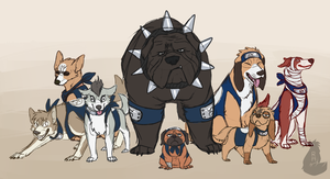 Ninja Doges by red-anteater