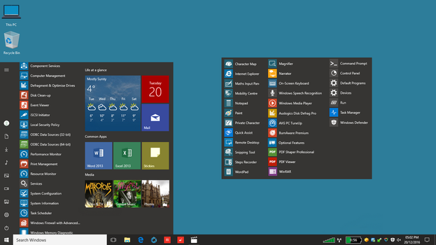 Set of Metro style icons for Windows 10 Start Menu by winterwarm