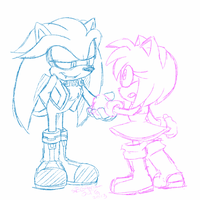.:Preview:. Vamp!Silver and Amy Rose by SEGAMew