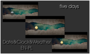 Date Clock Weather_EN-PL by Fajnalaska