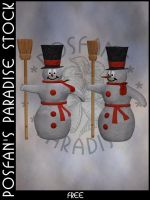 Snowman 002 by poserfan-stock