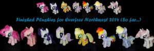 Finished Plushies for EFNW 2014...so far :P by RubioWolf