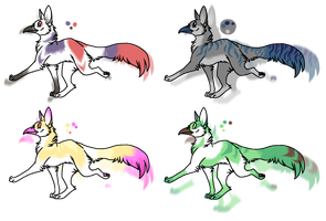 beaked dogs - adoptable by WhiteAntlers