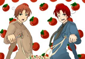 APH : Italy Twins by mao0kingz