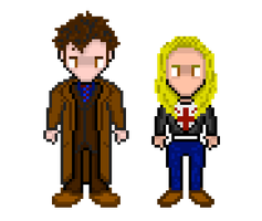 Doctor Who: 10th Doctor and Rose by Silverhammer37