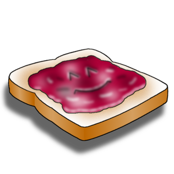 Toast and JAM! Banner Icon/Logo (512 x 512 pixels) by JulieAnneM