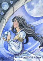 Moon Maiden ACEO by MeredithDillman