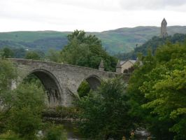 Bridge and Wallace Monument by Oniwolf12