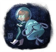 Space Girls And Robots: Robot In Love by Phee