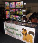 My vendor table at TrotCon 2016 by AleximusPrime