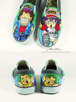 Arale X Dr.Slump cutom shoe by Annatar by Annatarhouse