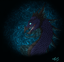 Dark Blue Dragon by Renathory