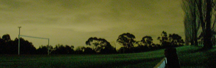soccer field at night by j3fton