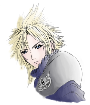 Cloud Strife - Colored Lines. by Athenas88