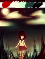 The Field Ghost (5 colors puked over canvas) by PrinceYapi