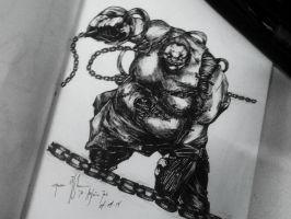 Dota2 Sketch - Pudge by azuremizt