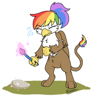 Rainbow Feather's Magic (1) by BreezePleeze