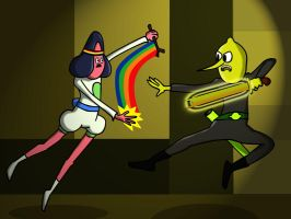 Abracadaniel V Lemongrab by richardnixon1968