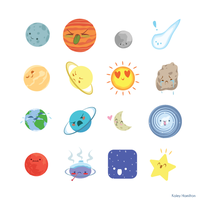 Planet Stickers by MaryAQuiteContrary