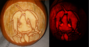 Edward Elric Pumpkin by Onlera