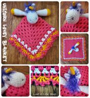 Unicorn Lovey Blanket by the-carolyn-michelle