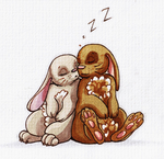 Sleeping Buns by SpagettiUrchin