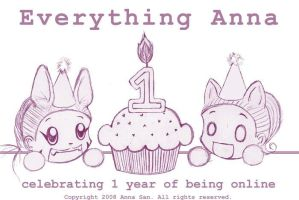 Everything Anna 1 Year Online by everythinganna