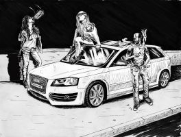 S-3 audi women fast car by MisiakasVasileios