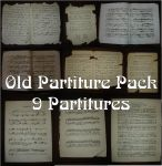 Old Partitures Pack by Maiden-HebiStock