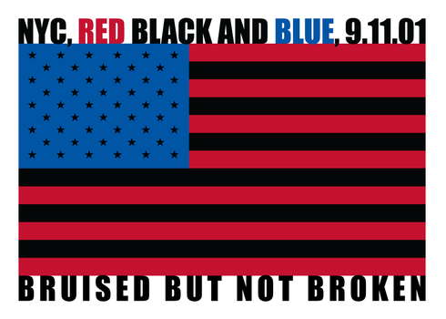 NYC: Red, Black and Blue by GriftGFX