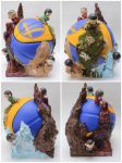 Golden State Warriors Sculpture and Micromunnies by spilledpaint88