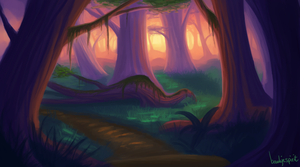 Forest painting by BaukjeSpirit