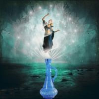 genie of the bottle by katmary