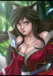 League of Legends - Ahri by CoconutGallery
