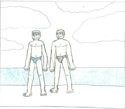 Terry and sprucehammer at the Beach by DPCBlueFox1991