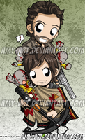 Rick and Daryl - Walking Dead Bookmark by amy-art