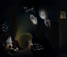 Slenderman.. Slenderman everywhere by ChibiDoodlez
