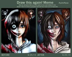 Draw it Again Meme- Jeff the Killer by Ayato-Inverse