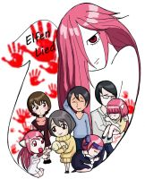 Elfen Lied by Brujamelon