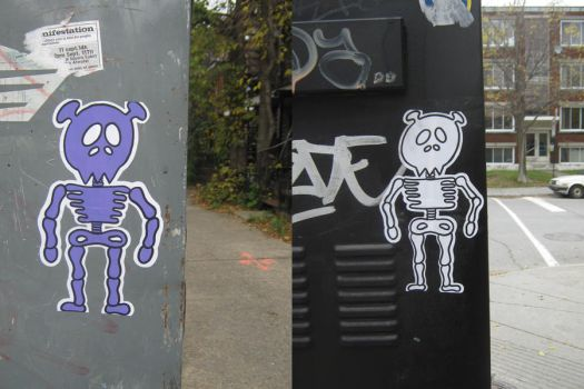 Monty skeletons by the-street-improver