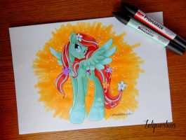 Rainbow Power Rosalee Commission by Letquestria