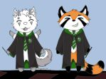 Team Slytherin by Kingpoof