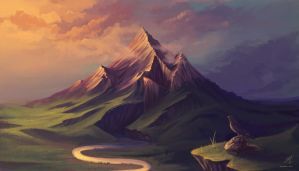 The Lonely Mountain by HelenKei