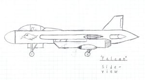 Falcon StrikeFighter Side by MasterofWolves99