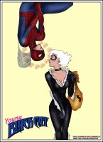 Young Black Cat and Spidey Rl by Rene-L