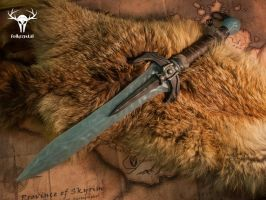 Dragonborn Stalhrim Dagger - final by Folkenstal