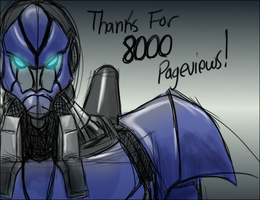 8000 Pageviews by BLUE-F0X