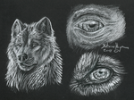 werewolf pencil drawing black white doodle sketch