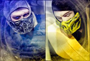 Sub-Zero vs Scorpion by noize-color