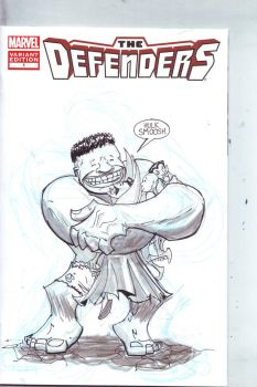 The Defenders Sketch Cover by Jorell-Rivera